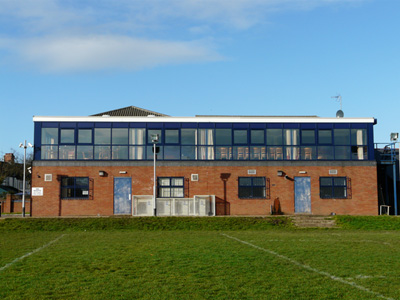 The Clubhouse viewed from The Harlequins Playing Field